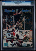 Miscellaneous Collectibles:General, 1980 Miracle on Ice Sports Illustrated Magazine - CGC - 9.0, Pop Three with Two Higher....