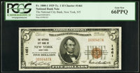 New York, NY - $5 1929 Ty. 1 The National City Bank Ch. # 1461