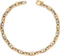 """Luxury Accessories:Accessories, Hermes 18K Yellow & White Gold Chaine d'Ancre Bracelet. Circa 1970's. Condition: 2. 7.5"""" Length. ..."""