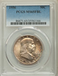 Franklin Half Dollars, 1956 50C MS65 Full Bell Lines PCGS. PCGS Population: (1805/873). NGC Census: (662/196). CDN: $75 Whsle. Bid for problem-fre...