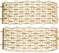 """Luxury Accessories:Accessories, Chanel Set of 2: Vintage Faux Pearl Bracelets with Gold Hardware. Condition: 3. 7"""" Length x 3"""" Height. ... (Total: 2 Items)"""