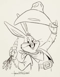 Animation Art:Production Drawing, Bugs Bunny Drawing Signed by Tom McKimson (Warner Brothers Studio,1980s)....