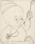 Original Comic Art:Miscellaneous, Robert McKimson Sr. - Elmer Fudd Coloring Book IllustrationPreliminary Original Art (Warner Brothers/Whitman, 1950s)....