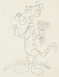 Animation Art:Production Drawing, Cool Cat Animation Drawing (Warner Brothers, 1960s)....