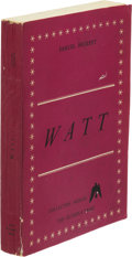 Books:Literature 1900-up, Samuel Beckett. Watt. [Paris]: The Olympia Press, 1953.First edition, ordinary issue, limited to 1,000 copies (foll...