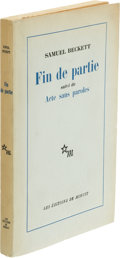 Books:Literature 1900-up, Samuel Beckett. Fin de partie. Suivi de Acte sansparoles. Paris: Les Éditions de Minuit, 1957. First tradeedit...