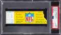Football Collectibles:Tickets, 1967 NFL Championship Game Packers vs. Cowboys Ticket Stub - Known as the Ice Bowl. ...