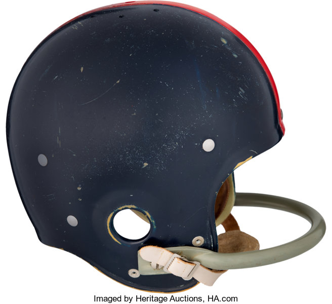 2e299011210 Mid 1950 s New York Giants Game Worn Helmet Attributed to