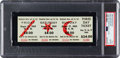Miscellaneous Collectibles:General, 1969 Woodstock Full Ticket PSA Gem Mint 10. ...