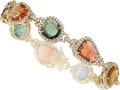 Estate Jewelry:Bracelets, Tourmaline, Diamond, Gold Bracelet . ...