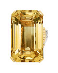 Estate Jewelry:Rings, Retro Citrine, Diamond, Ruby, Platinum-Topped Gold, Gold Ring . ...