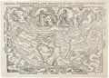 Books:Maps & Atlases, Peter Apian. Charta Cosmographica. Cum ventorum propria natura et operatione. [Antwerp: 1553]. Second state with...