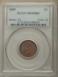 Indian Cents: , 1889 1C MS65 Brown PCGS. PCGS Population: (26/0). NGC Census: (36/6). CDN: $275 Whsle. Bid for problem-free NGC/PCGS MS65. ...
