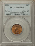 Indian Cents, 1904 1C MS65 Red and Brown PCGS. PCGS Population: (105/6). NGC Census: (131/17). MS65. Mintage 61,328,016. ...