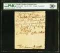Colonial Notes:North Carolina, North Carolina November 27, 1729 £3 Contemporary Counterfeit PMG Very Fine 30 Net.. ...