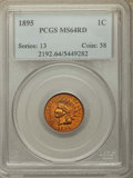 Indian Cents, 1895 1C MS64 Red PCGS. PCGS Population: (155/183). NGC Census: (86/133). MS64. Mintage 38,343,636. ...