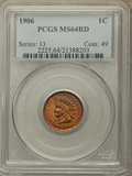 Indian Cents: , 1906 1C MS64 Red PCGS. PCGS Population: (390/245). NGC Census: (187/162). MS64. Mintage 96,022,256. ...