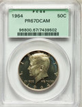 Proof Kennedy Half Dollars, 1964 50C PR67 Deep Cameo PCGS. PCGS Population: (239/393). NGCCensus: (326/498). PR67. ...