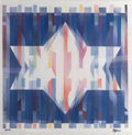 Prints & Multiples, Yaacov Agam (b. 1928). Star of Hope, n.d.. Agamograph. 13-1/2 x 13-1/2 inches (34.3 x 34.3 cm). Ed. 6/99. Signed and num...