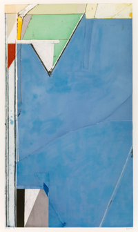 Richard Diebenkorn (1922-1993) High Green, Version II, 1992 Aquatint in colors with etching and dryp
