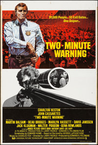"Two-Minute Warning & Other Lot (CIC, 1976). British One Sheet (27"" X 40"") & One Sheet (27""..."