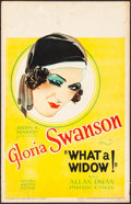 """Movie Posters:Comedy, What a Widow! (United Artists, 1930). Window Card (14"""" X 22"""").Comedy.. ..."""