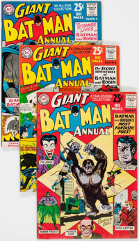 Batman Annual #3-6 Group (DC, 1962-64) Condition: Average VG/FN.... (Total: 4 Comic Books)