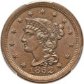 Large Cents: , 1852 1C MS65 Brown PCGS. PCGS Population: (119/32). NGC Census: (109/59). MS65. Mintage 5,063,094. ...
