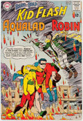 Silver Age (1956-1969):Superhero, The Brave and the Bold #54 Kid Flash, Aqualad, and Robin (DC, 1964)Condition: VG/FN....