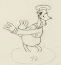 Animation Art:Production Drawing, Orphan's Benefit Donald Duck Animation Drawing (Walt Disney,1934)...