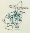 Animation Art:Production Drawing, Donald's Garden Donald Duck Animation Drawing (Walt Disney,1942)....