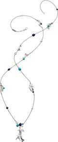 Estate Jewelry:Necklaces, Diamond, Multi-Stone, White Gold Necklace, Van Cleef & Arpels, French. ...
