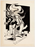 Original Comic Art:Illustrations, Dennis Fujitake Steve Ditko's the Creeper Original Art (1977)....