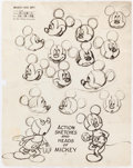 animation art:Model Sheet, Mickey Mouse and Others Studio Model Sheet Prints Group of 12 (Walt Disney, c. 1930s-70s).... (Total: 12 Items)