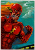 Original Comic Art:Paintings, XNO (Chet Darmstaedter)The Flash Original Painting (c.1990s)....