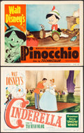 """Movie Posters:Animation, Cinderella & Other Lot (RKO, 1950). Lobby Cards (2) (11"""" X 14""""). Animation.. ... (Total: 2 Items)"""