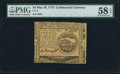 Continental Currency May 10, 1775 $4 PMG Choice About Unc 58 EPQ