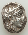 Ancients:Greek, Ancients: ARABIA. Qataban. Imitating Athens. Ca. 4th-3rd centuries BC. AR tetradrachm (24mm, 17.04 gm, 7h). About XF, test punch....