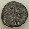 Ancients:Ancient Lots , Ancients: ANCIENT LOTS. India. Kushan Empire. Ca. AD 127-190. Lotof two (2) AE tetradrachms. About VF-VF.... (Total: 2 coins)