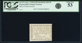 Colonial Notes:Pennsylvania, Pennsylvania Bank of North America August 6, 1789 1 Penny or $1/90Fr. PA-273, Haxby PA-465 G8, Newman page 364. PCGS About N...