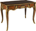 Furniture , A French-Inspired Parquetry and Gilt Bronze Bureau Plat. 30 x 44-1/2 x 27-1/8 inches (76.2 x 113.0 x 68.9 cm). ...