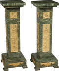 Other, A Pair of French-Inspired Gilt Bronze and Verde Marble Pedestals. 42-1/2 x 13-7/8 x 13-7/8 inches (108.0 x 35.2 x 35.2 cm). ... (Total: 2 Items)