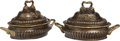 Other, A Pair of Neoclassical-Style Patinated Bronze Tureen-Form Planters, 20th century. 13-1/2 x 24 x 14 inches (34.3 x 61.0 x 35.... (Total: 2 Items)