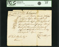 Colonial Notes:Pennsylvania, Philadelphia, PA - David Rittenhouse [as] Treasurer of PennsylvaniaPromissory Note for 25 Pounds 10 Shillings to Kammerer [,...