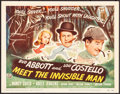 "Movie Posters:Comedy, Abbott and Costello Meet the Invisible Man (UniversalInternational, 1951). Title Lobby Card (11"" X 14""). Comedy.. ..."