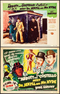 "Movie Posters:Comedy, Abbott and Costello Meet Dr. Jekyll and Mr. Hyde (Universal International, 1953). Title Lobby Card & Lobby Card (11"" X 14"").... (Total: 2 Items)"