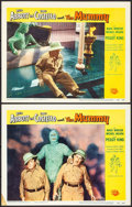 "Movie Posters:Comedy, Abbott and Costello Meet the Mummy (Universal International, 1955).Lobby Cards (2) (11"" X 14""). Comedy.. ... (Total: 2 Items)"