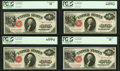 Cut Sheet of Four Fr. 36 $1 1917 Legal Tenders. PCGS Gem New 65PPQ, Very Choice New 64PPQ, & Extremely Fine 45 (2)