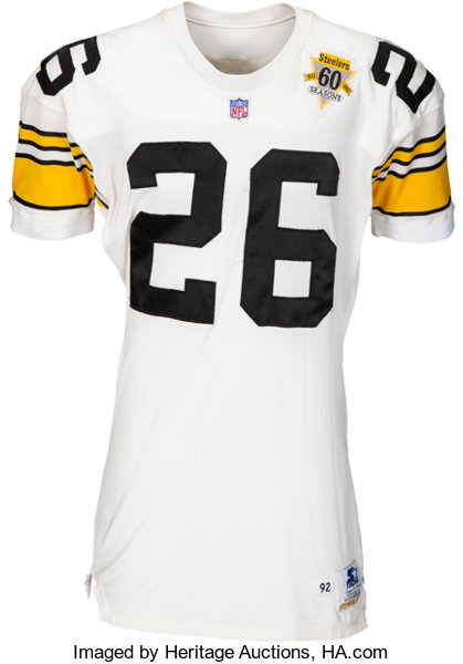 new products e39d4 cc1f3 1992 Rod Woodson Game Worn Pittsburgh Steelers Jersey ...