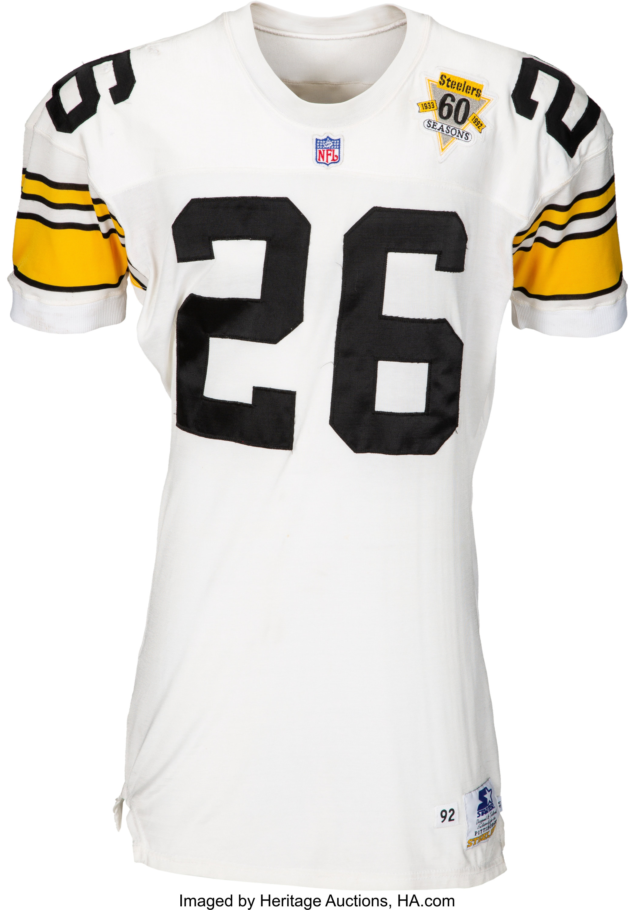 new products 70d87 6466c 1992 Rod Woodson Game Worn Pittsburgh Steelers Jersey ...